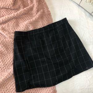 Brandy Melville black and white check skirt